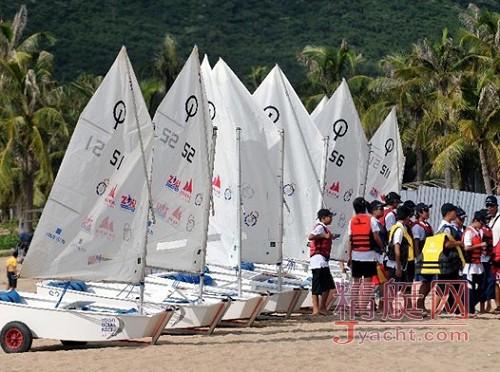 2012年全国op帆船冠军赛 深圳七星湾起航