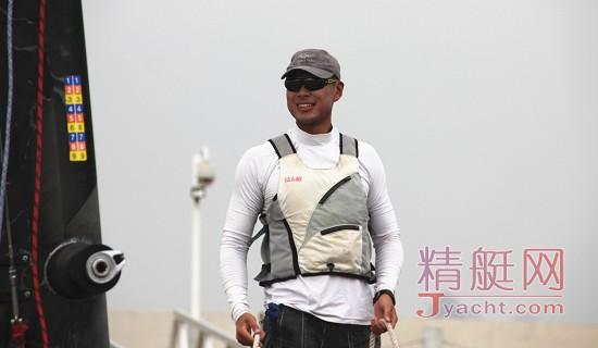 美洲杯帆船赛中国之队队员之――张翌然