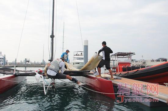 美洲杯帆船赛中国之队赛事主管――郑英杰(Kit)