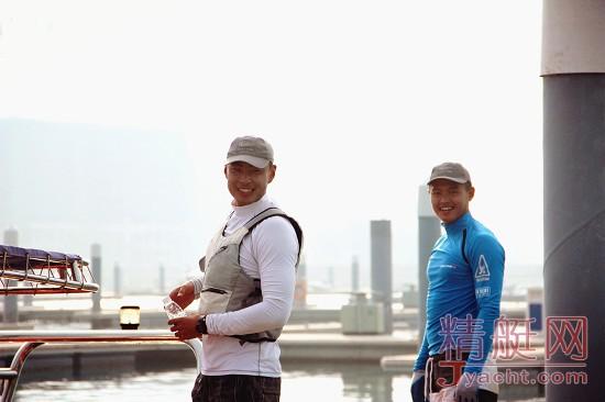 美洲杯帆船赛中国之队队员――刘学和张翌然