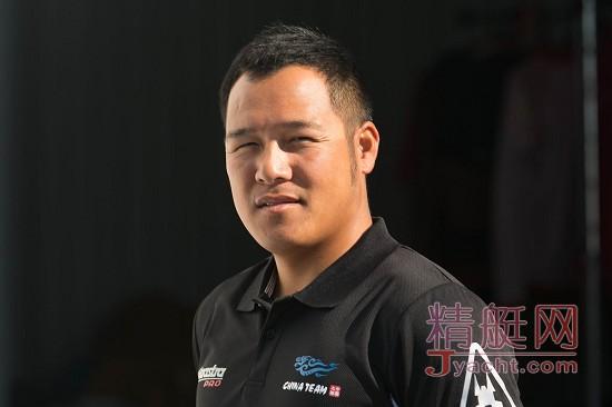 美洲杯帆船赛中国之队队员――温自进