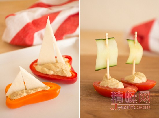 夏日清新diy,用蔬菜做小帆船