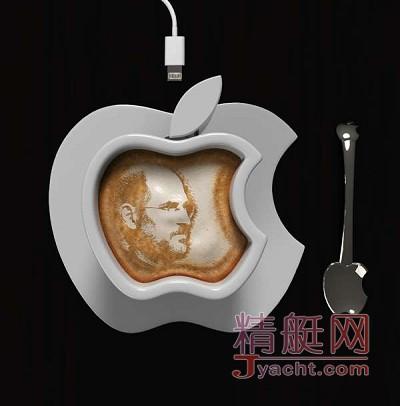 神奇的Apple iCup咖啡杯 用苹果数据线直接加热咖啡