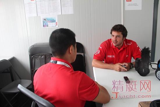 曼福队(Team Mapfre )随船记者Francisco Vignale (弗朗西斯科・维尼亚莱)