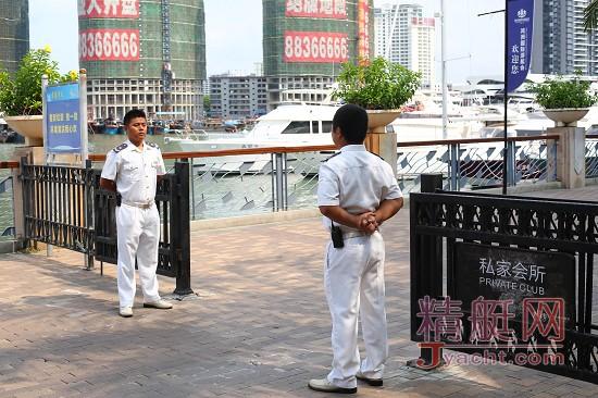 鸿洲国际游艇会VIP码头保安部资深保安钱杨香