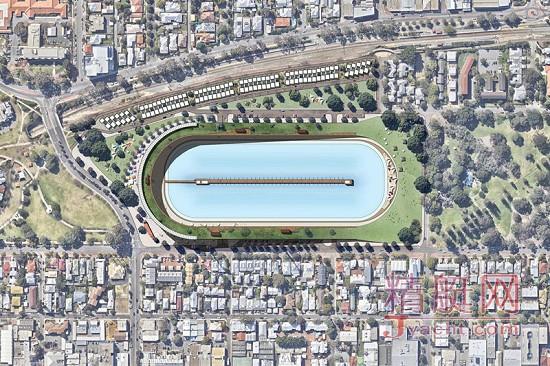 球场闲置,干脆改成一个市中心的冲浪公园吧!