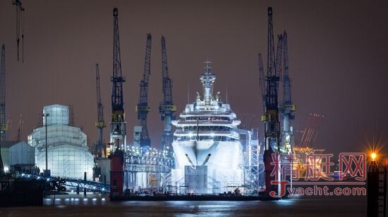 162.5米的Eclipse超级游艇进入船厂Blohm & Voss,发生啥事啦?