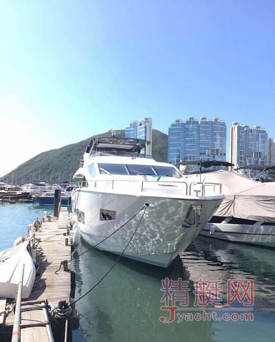 给力 | 圣汐亚洲第二艘新款游艇 86 Yacht 已停泊香港!