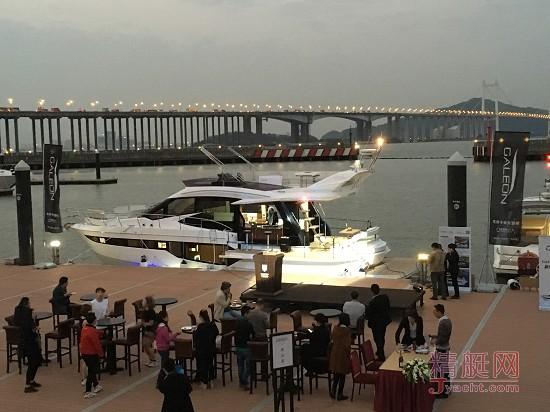 重量级大奖得主――波兰Galeon(卡帝尔)500 Fly全球第二艘到达中国,代理商欧尼尔游艇12月25日在南沙游艇会举办了盛大的亚洲首秀礼