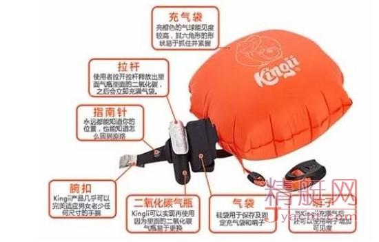 Kingii防溺水可穿戴救生设备 这是世界上最小最实用的溺水救生设备!