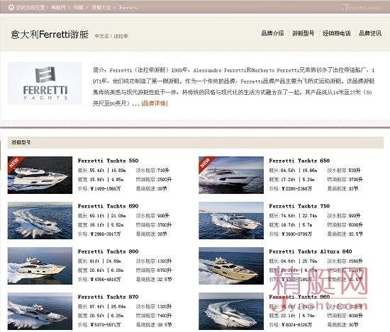 意大利Ferretti Yachts(法拉帝游艇)数据揭示最受华人关注的10大游艇品牌 | 5月