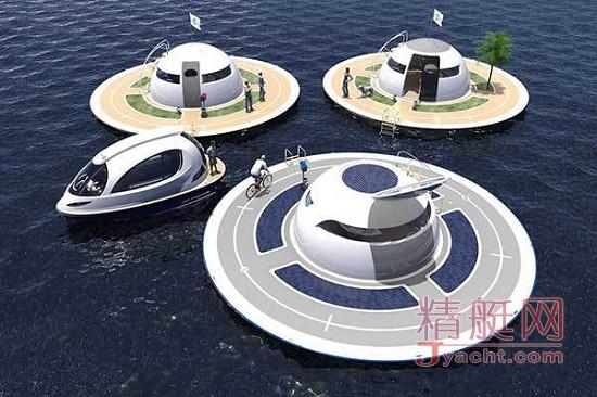 """意大利海上惊现""""UFO""""生态游艇"""