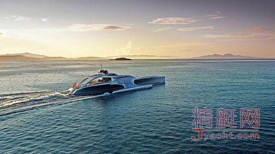 中国产42.5米三体私人游艇Adastra