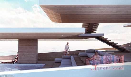 这艘超级游艇,是一座可以撒欢儿的海上移动大露台