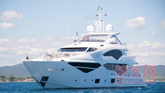 豪华游艇制造商英国Sunseeker(圣汐)131 Yacht系列第三艘Jacozami已交付