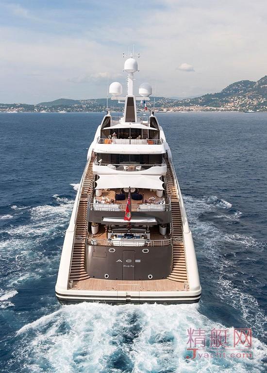 瞅瞅超级游艇的屁股能有多翘Superyacht 85米Ace德国Lürssen