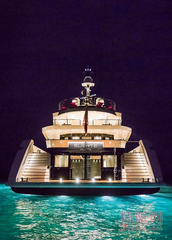 瞅瞅超级游艇的屁股能有多翘Superyacht 69.3米Suerte意大利Tankoa Yachts