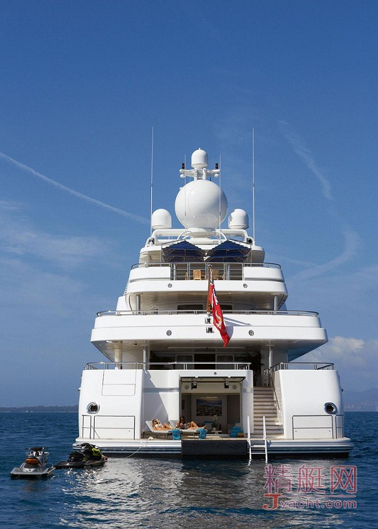 瞅瞅超级游艇的屁股能有多翘Superyacht 72米Titania德国Lürssen