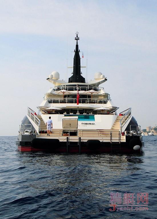 瞅瞅超级游艇的屁股能有多翘Superyacht 81.27米Alfa Nero荷兰Oceanco