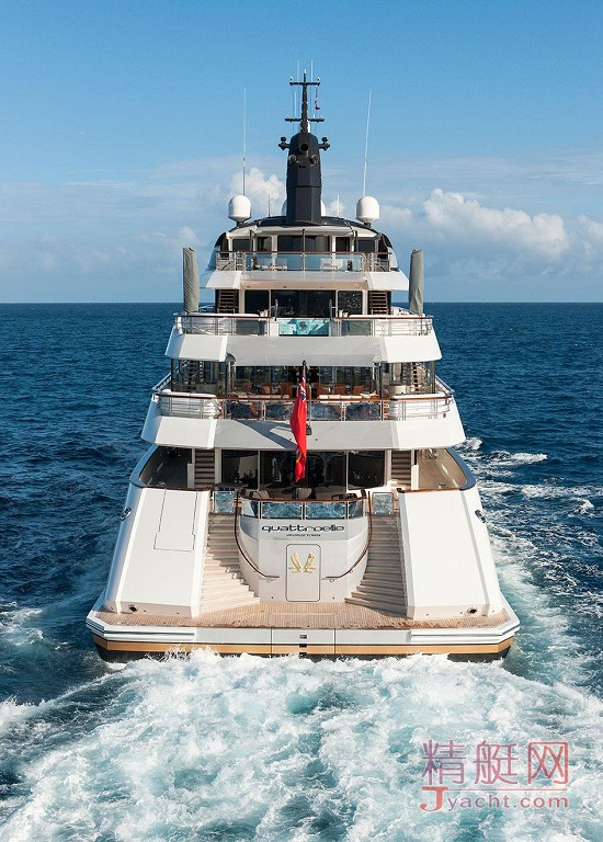瞅瞅超级游艇的屁股能有多翘Superyacht 88米Quatroelle德国Lürssen