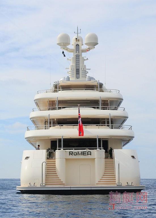 瞅瞅超级游艇的屁股能有多翘Superyacht 82.4米RoMEA德国Abeking & Rasmussen