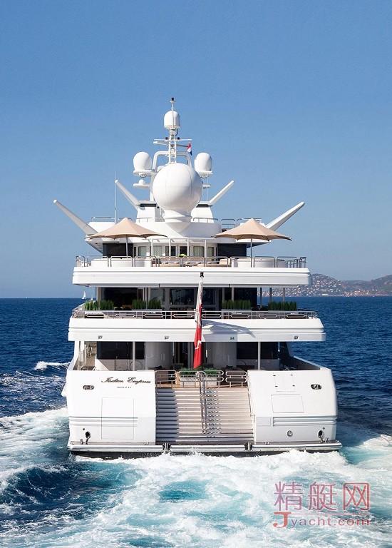 瞅瞅超级游艇的屁股能有多翘Superyacht 95米Indian Empress荷兰Oceanco