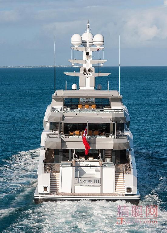 瞅瞅超级游艇的屁股能有多翘Superyacht 66米Ester III德国Lürssen