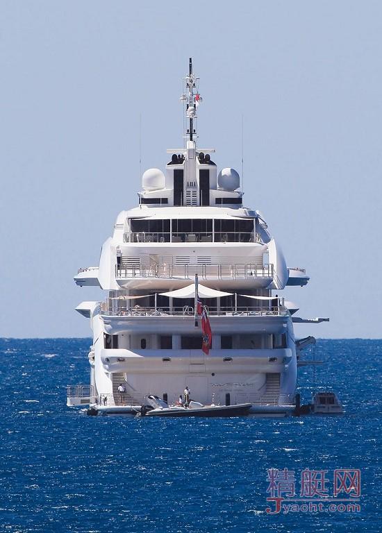 瞅瞅超级游艇的屁股能有多翘Superyacht 125米Maryah希腊Alpha Marine