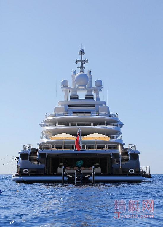 瞅瞅超级游艇的屁股能有多翘Superyacht 115米Luna德国Lloyd Werft