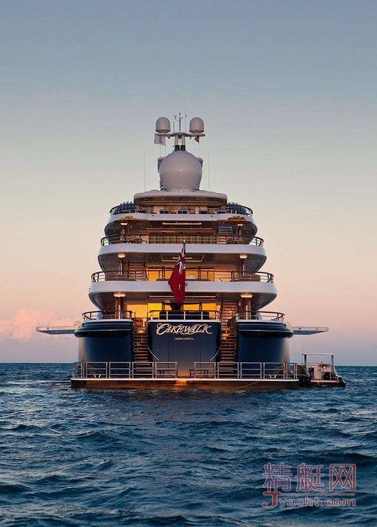 瞅瞅超级游艇的屁股能有多翘Superyacht 85.6米Cakewalk美国Derecktor