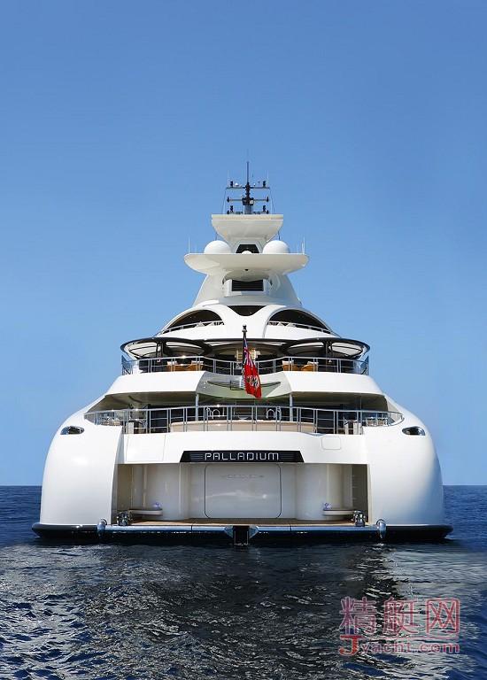 瞅瞅超级游艇的屁股能有多翘Superyacht 96米Palladium德国Blohm+Voss