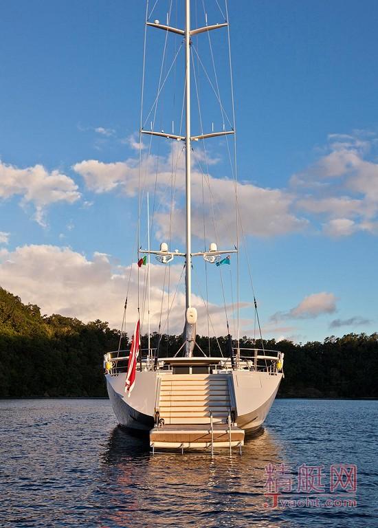 瞅瞅超级游艇的屁股能有多翘Superyacht 50米Zefira新西兰Fitzroy Yachts