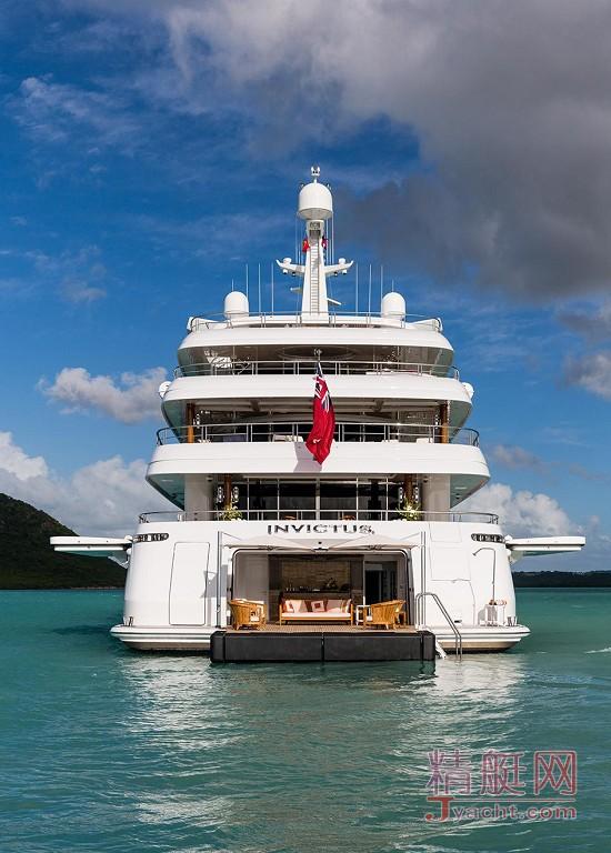 瞅瞅超级游艇的屁股能有多翘Superyacht 65.5米Invictus美国Delta Marine