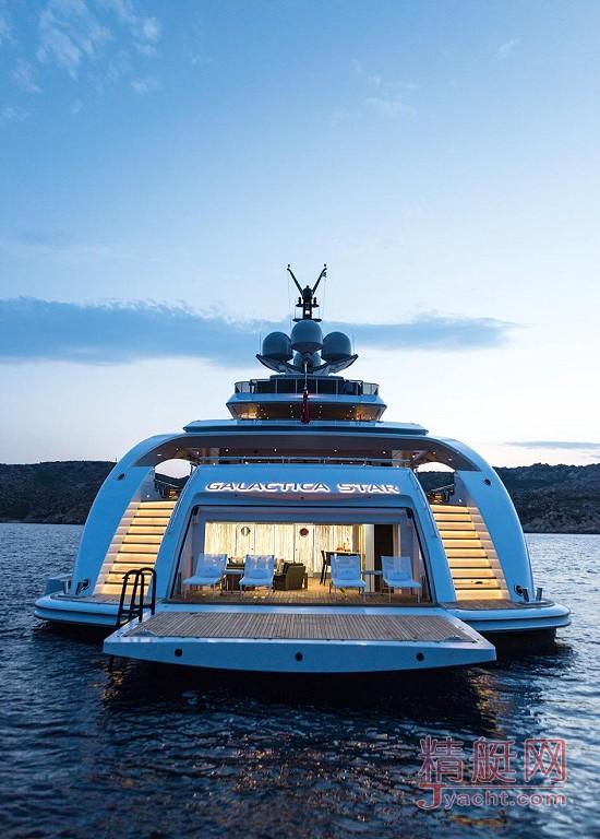 瞅瞅超级游艇的屁股能有多翘Superyacht 65米Galactica Star荷兰Heesen