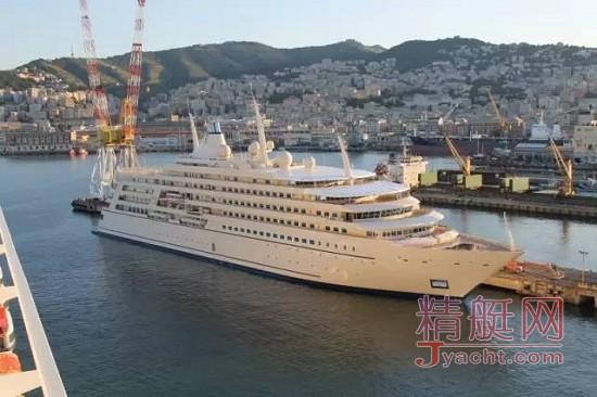 """159米"""" Fulk Al Salamah""""超级游艇意大利T. Mariotti船厂在建时"""