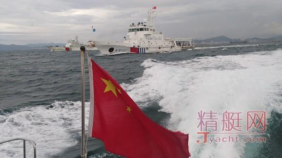 """""""迎国庆保安全""""-三亚海事局启动大三亚旅游圈西部海域巡航。"""