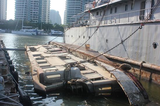 三亚海事局迅速响应 及时有效处置内港船舶翻沉事故