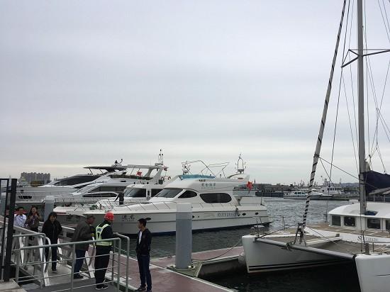 烟台市首个公共游艇帆船专用码头今天启用