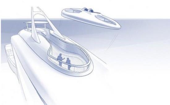 荷兰展示超豪概念游艇:搭载可拆海岛屋+双人无人机
