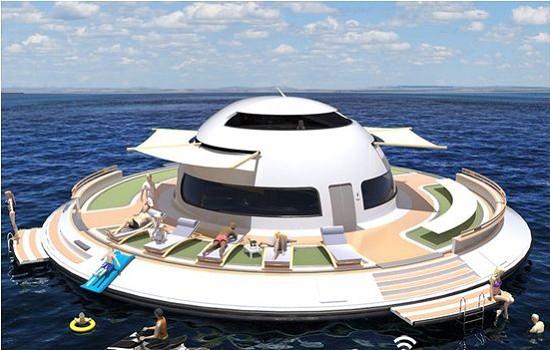 U.F.O 2.0豪华游艇 外形设计酷似UFO