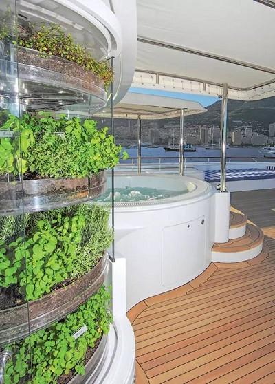 花园建在游艇上! 这样做人会不会太贪心?
