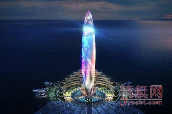 震撼!全球三大新建游艇港码头阿联酋Dubai(迪拜)棕榈岛