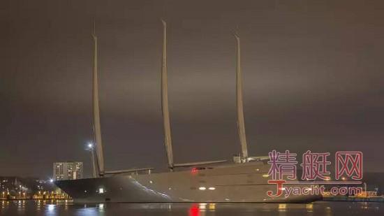 全球最大帆船143米A已正式交付