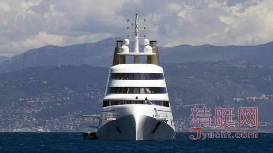 全球最大帆船143米A船东为俄罗斯亿万富豪安德烈•梅尔尼琴科(Andrey Melinichenko)