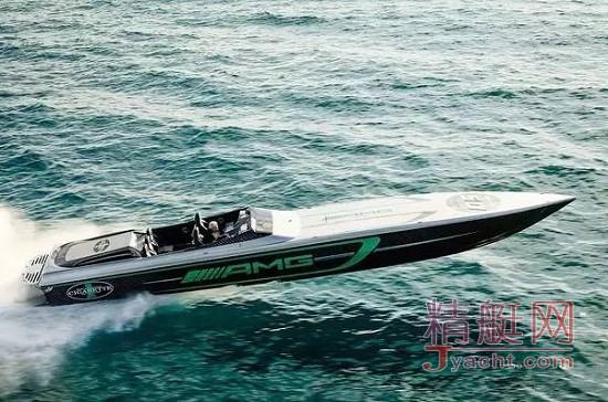 AMG创立50周年跨界巨献:50尺绿色地狱版快艇Marauder AMG