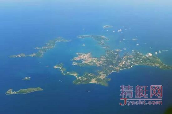 从空中俯瞰澎湖群岛