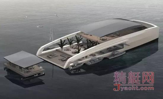 功能区竟然可拆卸 - 隐私全保障的游艇77m X R-Evolution