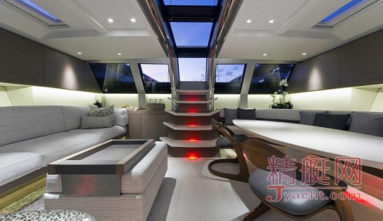 """Angel's Share""超级游艇是由位于摩纳哥的沃利造船厂(Wally)推出的一款高端游艇"