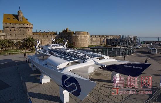全球首艘氢气驱动游艇Energy Observer诞生 5月首航环球