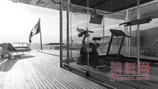 图赏丨超级游艇上的健身房